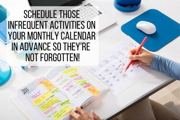 Using a calendar helps you manage your time and plan your day.