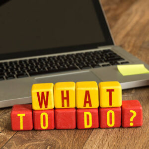 what to do in blocks in front of laptop